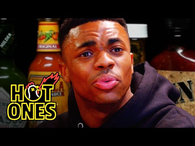 Vince Staples Delivers Hot Takes While Eating Spicy Wings